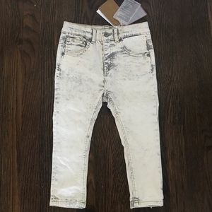 Zara baby boy white washed skinny  jean sz 2/3 yrs